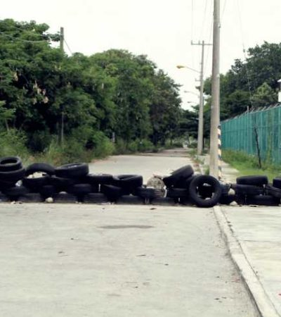 Vecinos se quejan por bloqueo de avenidas alrededor de la cárcel de Cancún
