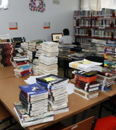Suman más de dos mil nuevos libros al acervo de la Biblioteca Pública de Cozumel