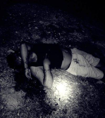 Encuentran cuerpo de hombre ejecutado a balazos en camino de terracería de la Región 313 de Cancún