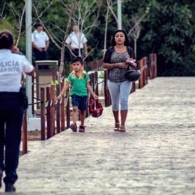 Inaugura gobierno de Isla Mujeres en Rancho Viejo nuevas calles peatonales con inversión de 7.2 mdp