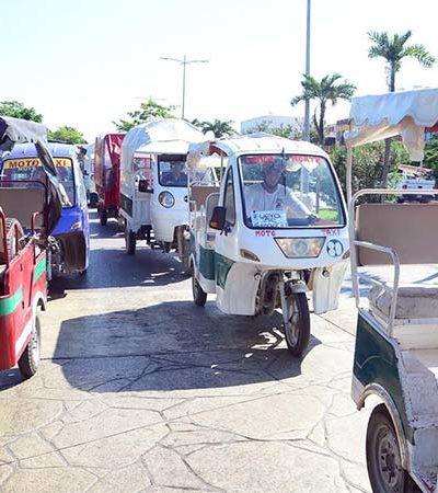 Mototaxis que no obtengan permisos recurrirán al amparo en Cancún