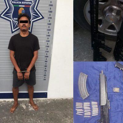 Detienen a sicario con dos armas largas en Cancún; quería asesinar a mujer en la Región 253