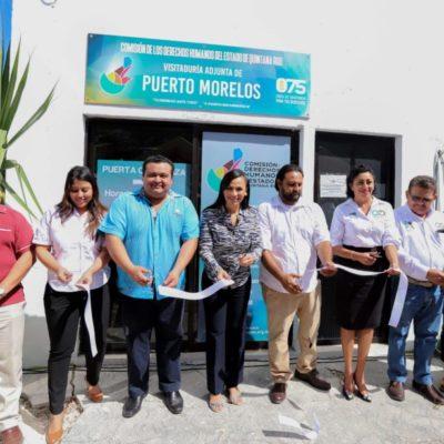 Laura Fernández inaugura oficinas de Derechos Humanos en Puerto Morelos