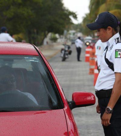 Dirección de Tránsito de Isla Mujeres realiza operativos en autos polarizados
