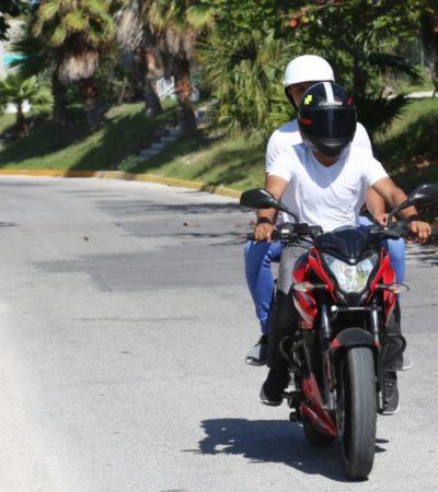 El Ayuntamiento de Isla Mujeres implementa la campaña de concientización a motociclistas 'Ponte el casco'