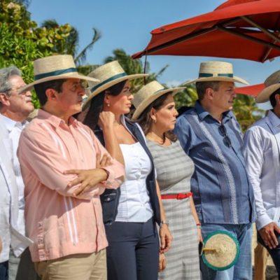 Se suma Juan Carrillo a reunión con autoridades estatales y federales para acordar estrategias contra el sargazo