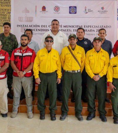 Instalan comité operativo especializado en incendios forestales en Isla Mujeres