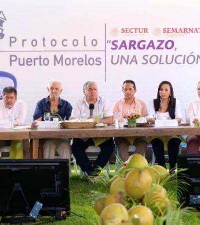 Autoridades y empresarios buscan hacer frente al sargazo junto a 19 países más
