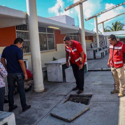 Monitorean escuelas que fungen como refugios anticiclónicos en Isla Mujeres
