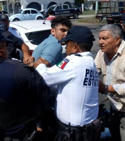 Detienen a dos colombianos en Chetumal tras discutir con policías después de un incidente de tránsito