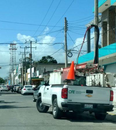 'Lluvia' de apagones en Chetumal