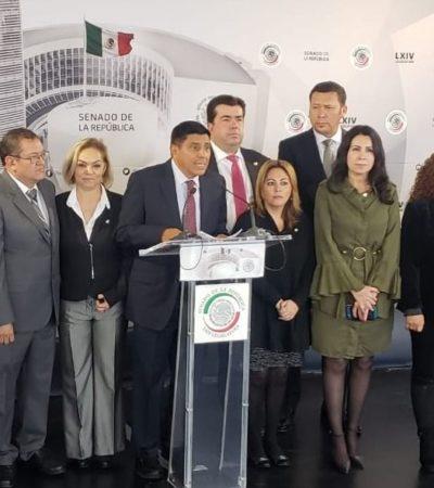 Insiste Barbosa en repetir a la gubernatura de Puebla por Morena, pero senadores proponen a Armenta