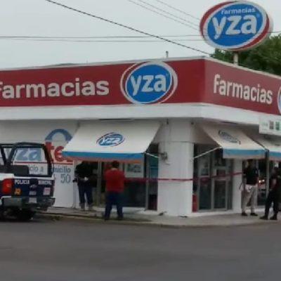Roban en farmacia en Chetumal