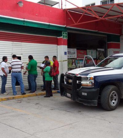 Asaltan supermercado y huyen con la caja fuerte en la Región 229 de Cancún