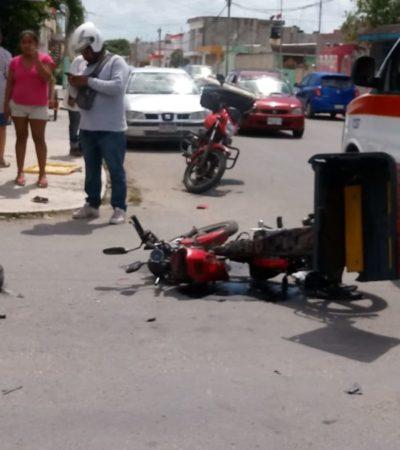 Automovilista atropella a motociclista y huye