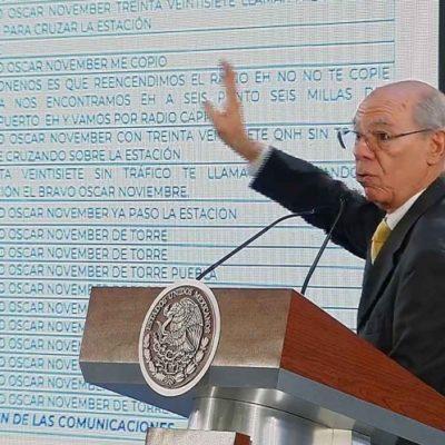 Revela SCT audios sobre caída de helicóptero en Puebla por instrucción directa de AMLO