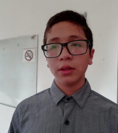 Cancunense de 14 años, a punto de hacer su examen de ingreso a la UNAM
