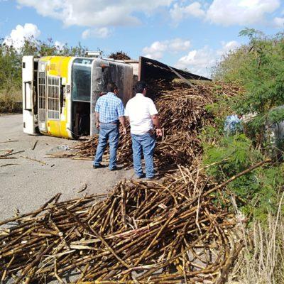 Se desploma camión cañero sobre automóvil en OPB