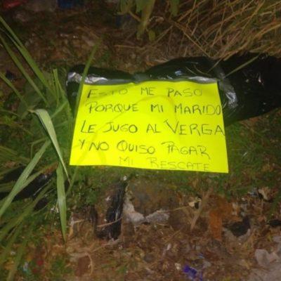Decapitan sicarios a mujer y dejan mensaje a su familia que había pedido apoyo en Coatzacoalcos