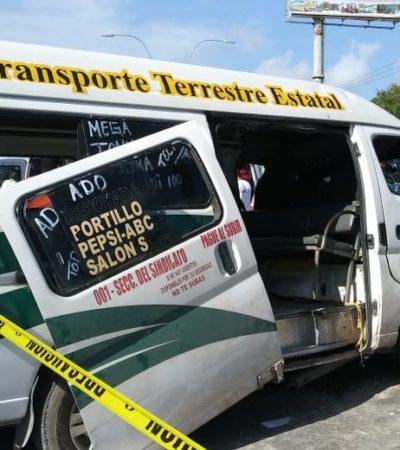LAS TTE COBRAN NUEVAS VÍCTIMAS: Choque de combi deja 14 heridos en Cancún