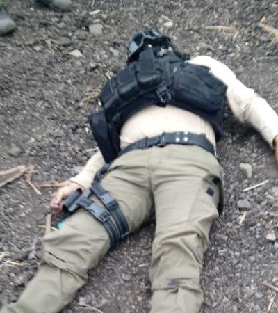 Embosca comando delincuencial a elementos de la Fuerza Civil de Veracruz; un policía murió