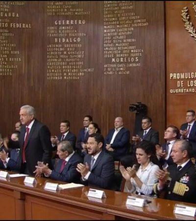 Encabeza AMLO el 102 Aniversario de la Constitución en Querétaro