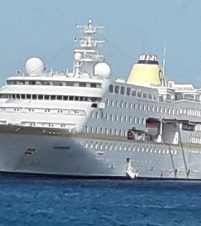 Crucero echa anclas sobre arrecifes de Cozumel
