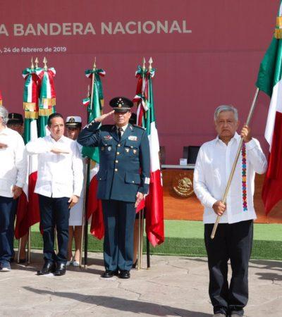 En jornada de protestas y abucheos, dice AMLO que atenderá inseguridad en Quintana Roo; promete aplicar zona franca