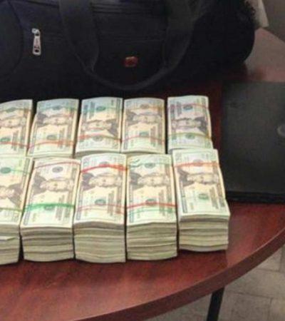 Detienen a hombre con 100 mil dólares con rumbo a Cancún