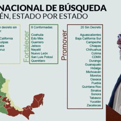 QR está entre los 20 estados que no cuenta con Comisión para Personas Desaparecidas, da a conocer Alejandro Encinas