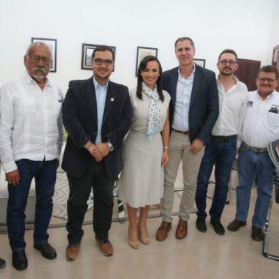 Alistan hermanamiento entre Medellín y Puerto Morelos