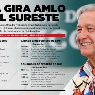 Ejército Mexicano empieza a instalar el escenario para la llegada de Andrés Manuel López Obrador a Chetumal