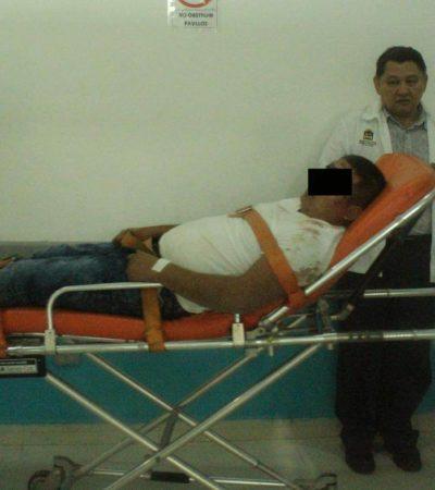 Abandonan durante la madrugada a un hombre severamente golpeado en la colonia La Unión de la SM 213 de Cancún