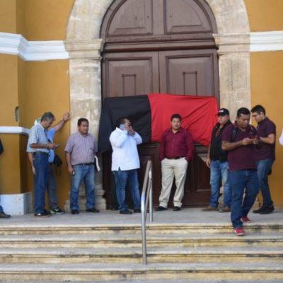 Estalla huelga de personal sindicalizado en el Ayuntamiento de Campeche