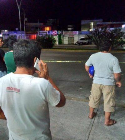 SE PONE VIOLENTA LA NOCHE: Ejecutan a balazos al tercero del día en la SM 62 de Cancún y matan a un taquero en la 28 de Julio de Playa