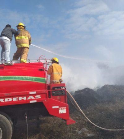 Logran controlar incendio en el basurero de Kantunilkín