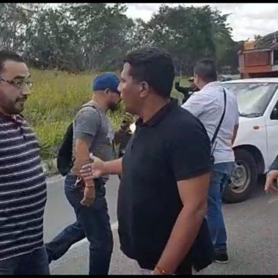 Liberan bloqueo carretero en el sur de Quintana Roo
