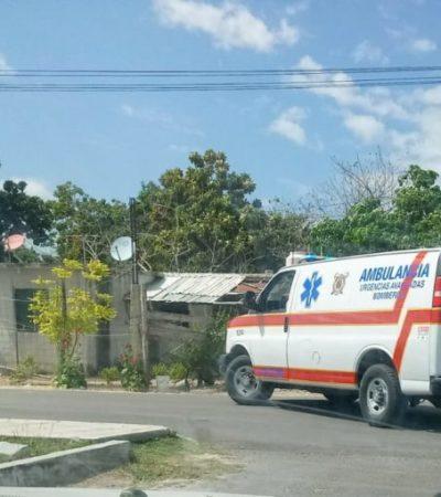 Tras mordedura de víbora, menor de edad es trasladado al Hospital General de Chetumal