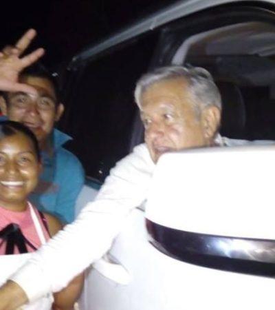 Saluda AMLO a la gente de Francisco Villa