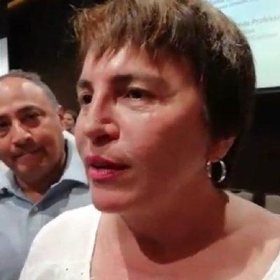 """""""El sargazo, al igual que la seguridad, no es un tema municipal, sino internacional y de los tres órdenes de gobierno"""", afirma Laura Beristain"""