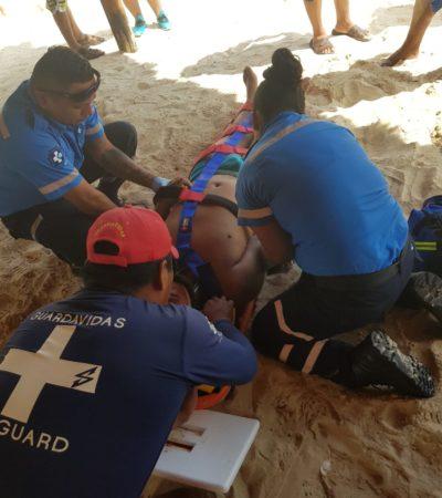 Turista se fractura espalda y se niegan a atenderlo en Playa del Carmen