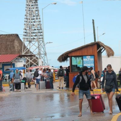 Chiquilá registra nula actividad turística debido a lluvias por el Frente Frío 36