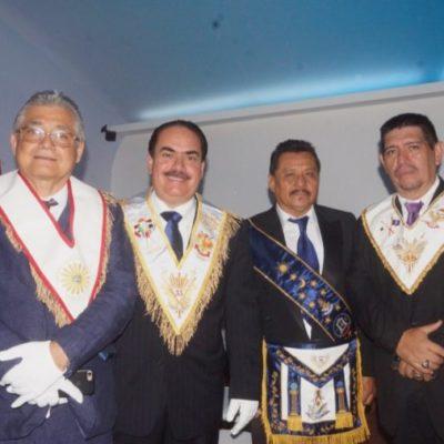 "REALIZAN REUNIÓN MASÓNICA PÚBLICA EN CANCÚN: Masones organizaron el evento ""Grande Oriente de México"" que reunió a representantes de Brasil, Belice y Tailandia"