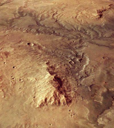 HUELLAS DE ANTIGUOS CAUCES EN MARTE: Satélite Mars Express de la ESA fotografía sistema ramificado de canales y valles secos
