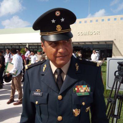 Hay mil 100 elementos de la Policía Militar en Cancún