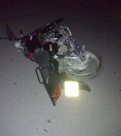 Fallece motociclista en Felipe Carrillo Puerto