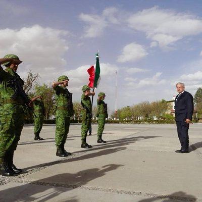 Reconoce AMLO que participación del Ejército es decisiva para la pacificación del país
