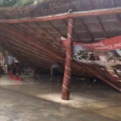 COLAPSA PALAPA POR LLUVIAS: Oculta hotel en Punta Maroma derrumbe que dejó heridos
