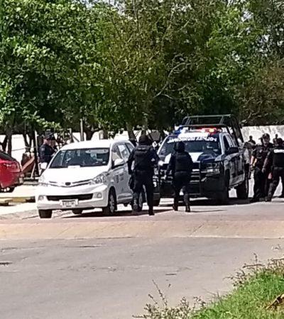 'LEVANTÓN' Y ASESINATO EN PLAYA: Entre cinco, suben a hombre a un taxi y lo acuchillan; policía municipal actúa rápido y captura a tres
