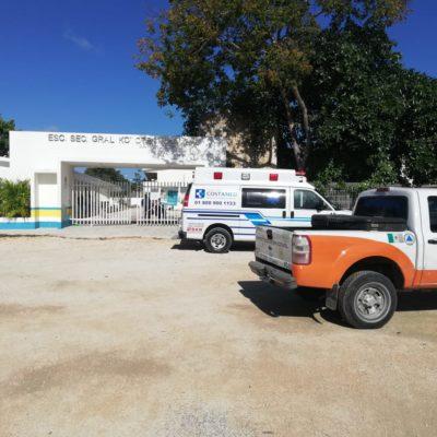Niña lesionada en escuela fue trasladada a Cancún